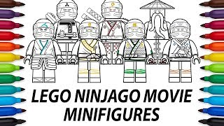 How to draw Lego Ninjago Movie minifigures - compilation video