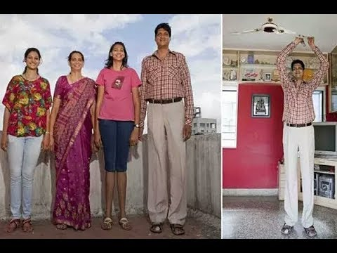 Tallest Family In India World Record Tallest Family And Tallest
