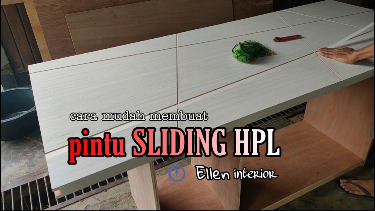 cara membuat lemari dari BLOCKBOARD finishing HPL - YouTube