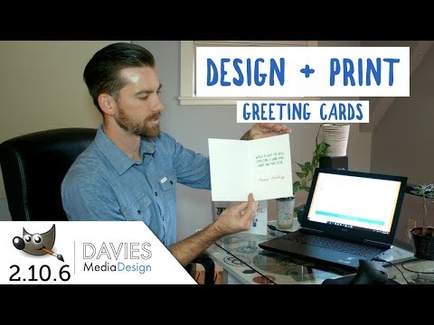DIY - Design And Print Your Own Greeting Card In GIMP 2.10