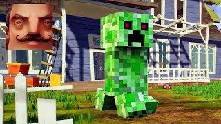 Hello Neighbor   My New Neighbor Creeper Minecraft Act 1 Gameplay Walkthrough Part 528