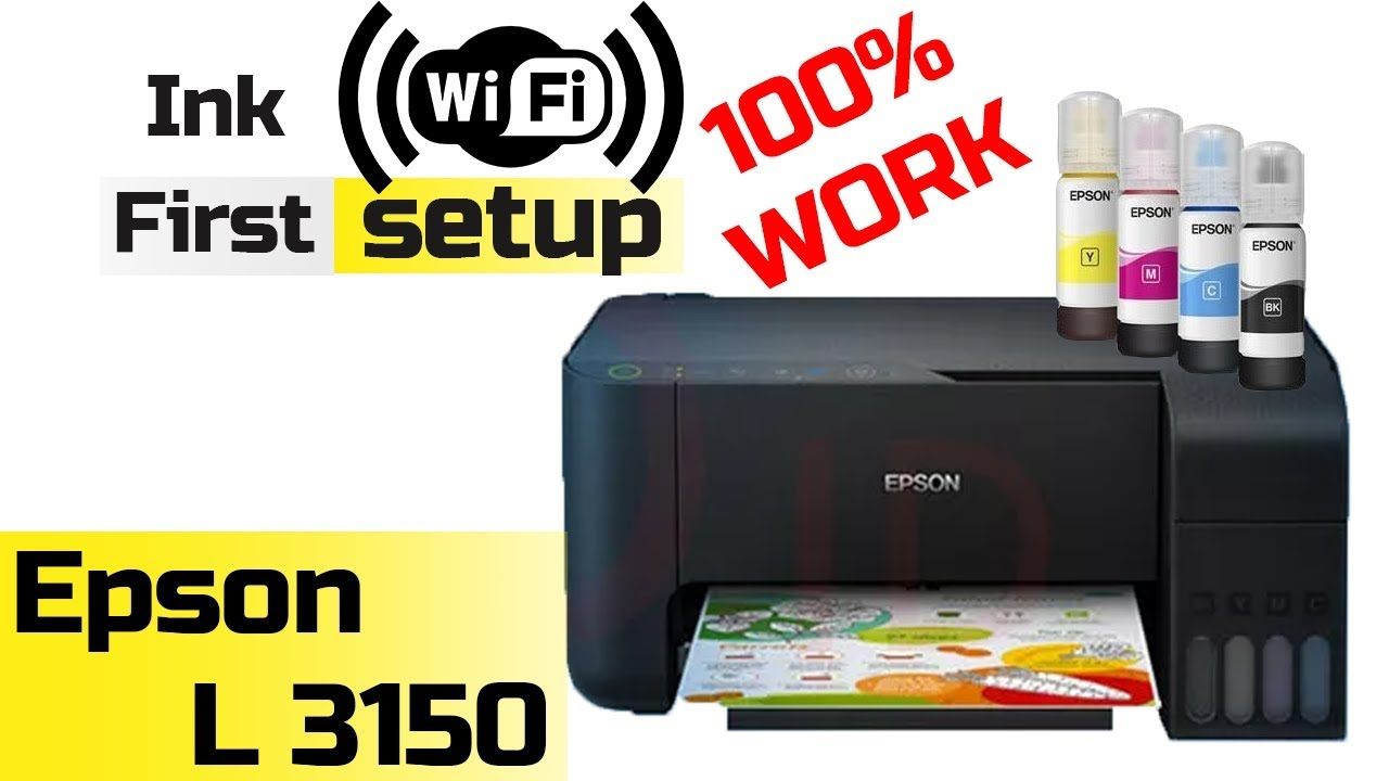 First Setup And Wifi Connection Epson L3150 Indonesia English Subtitle Youtube