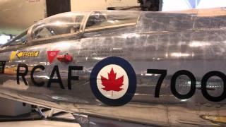 """I saw the Messerschmitt """"Me 163"""" Komet replica !!! カナダ航空宇宙博..."""