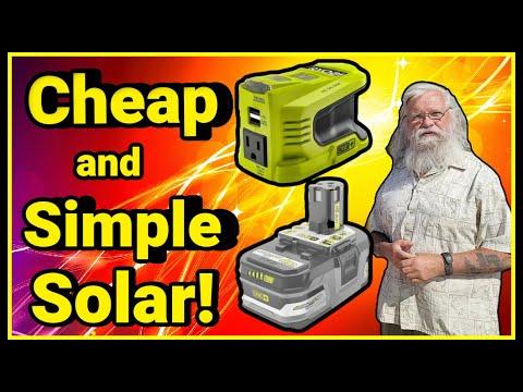 Solar Series: Brilliant Cheap & Simple Solar! New Ryobi Inverter & Beaudens Portable Power Station!