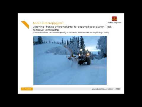 Statens vegvesen - Kurs Vinterdrift 2016 - Kapittel 9 Andre Vinteroppgaver