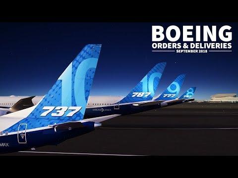 Boeing ORDERS & DELIVERIES Recap | September 2018