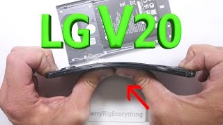 LG V20 Scratch Test - Bend Test - BURN test - Durability Video!
