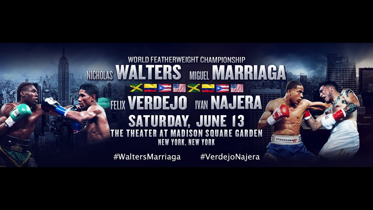 See It Live: Walters & Verdejo Double-Header