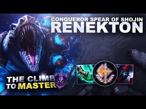 CONQUEROR SPEAR OF SHOJIN RENEKTON! - Climb to Master S9 | League of Legends thumbnail