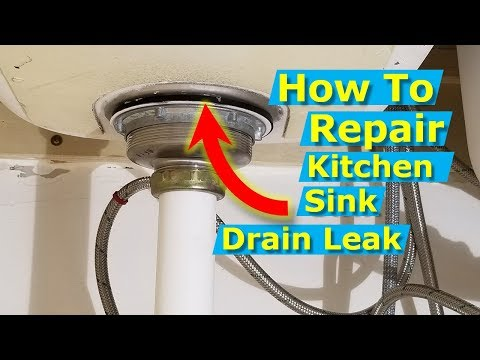 How to Replace A Kitchen Sink Drain Strainer, Repair Leak