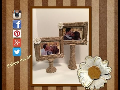 diy picture stand 2 made from two dollar tree items youtube - Dollar Store Frames