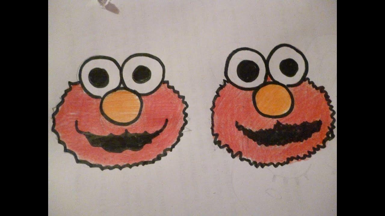 Aprende a dibujar a Elmo Facil - YouTube