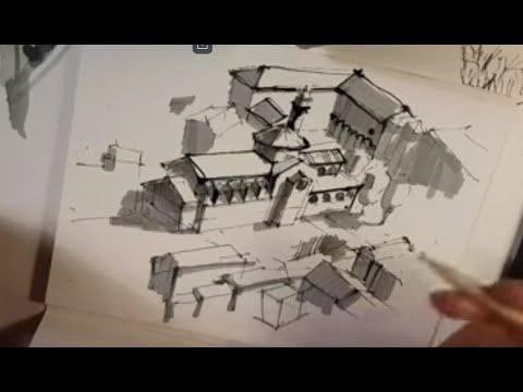 Архитектурный  Скетчинг, Стрим Из Италии, Рисую Базилику В Венеции