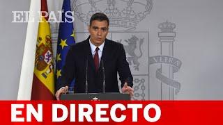 DIRECTO #INDULTOS   Declaración institucional de SÁNCHEZ