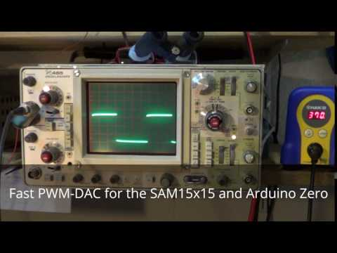 Fast PWM-DAC for the SAM15x15 and Arduino Zero - YouTube