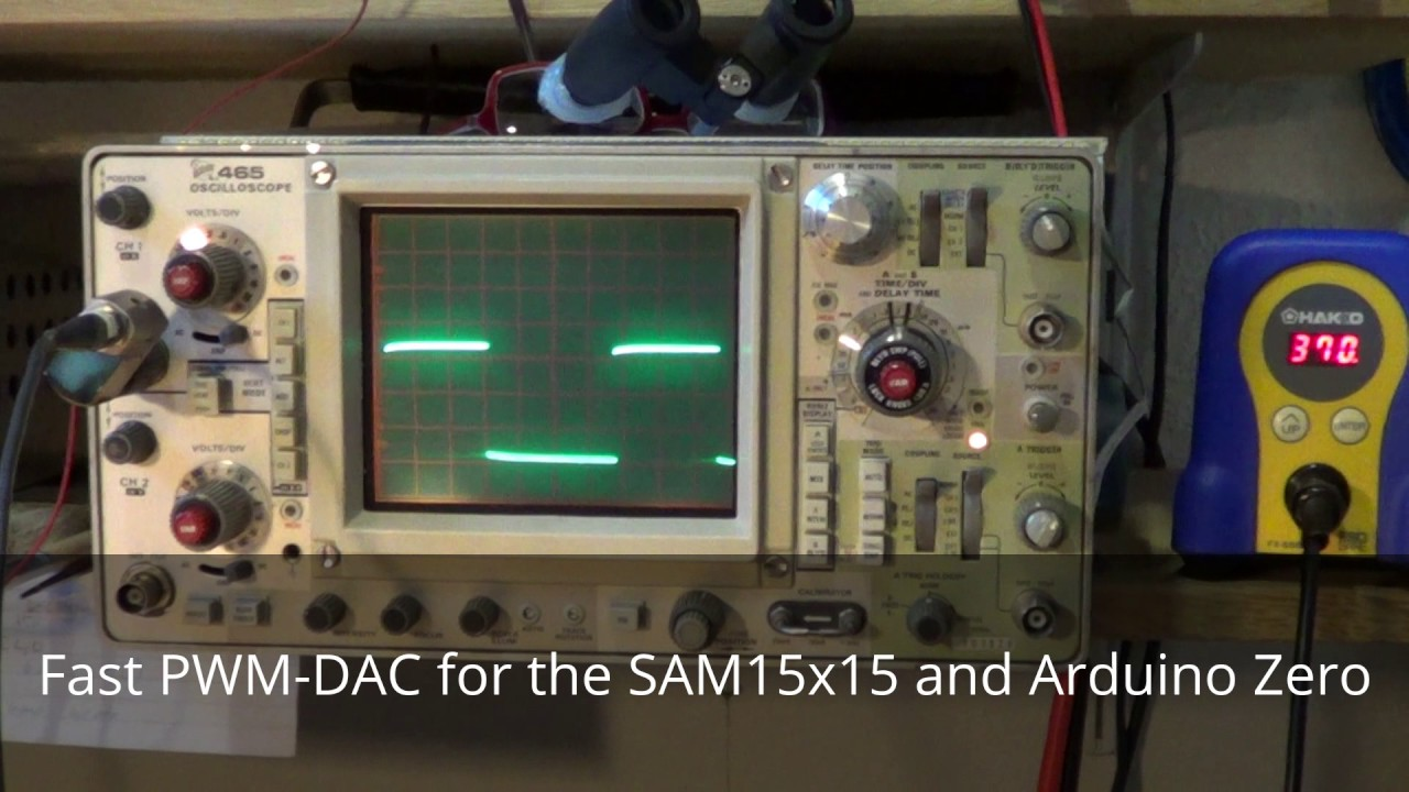 Fast PWM-DAC for the SAM15x15 and Arduino Zero