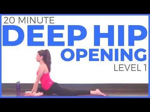 20 Minute Yoga Practice Deep Hip Opening | Level 1