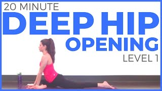 20 Minute Deep Hip Opening Yoga Practice | Sarah Beth Yoga Video