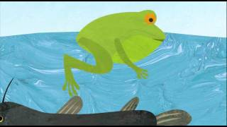 Little green frog song childrens song