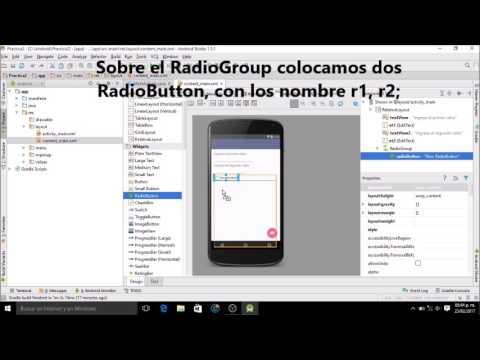 Suma y Resta con Radio Button en Android Studio; Practica 2