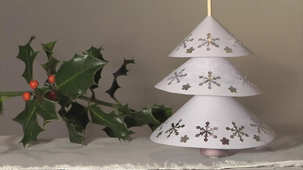 noel deco christmas decoration sapin napperon papier diy youtube. Black Bedroom Furniture Sets. Home Design Ideas