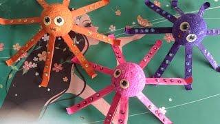 Foam Ball & Stick Octopus - Art & Craft Idea For Kids
