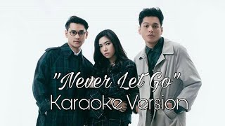 "Gambar cover ""Never Let Go"" - Afgan, Isyana Sarasvati, Rendy Pandugo  Karaoke Lirik No Vocals"