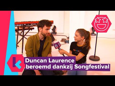 Duncan Laurence beroemd dankzij Songfestival
