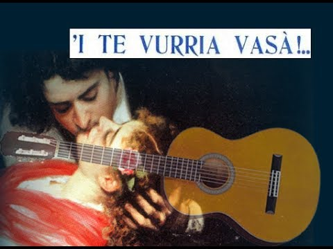I te vurria vasa' chitarra canzone napoletana con accordi