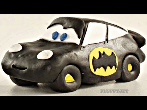 Lightning McQueen Batman Car Play Doh Stop Motion - Video For Kids