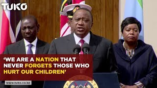 President Uhuru Kenyatta speech following 14 Riverside terror attack| Tuko TV