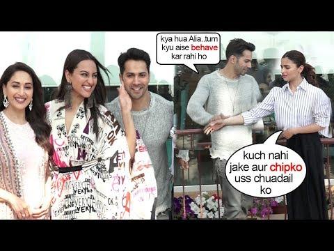 Alia Bhatt FIGHTS wid Varun Dhawan for Getting too Close To Sonakshi Sinha @Kalank Promotions