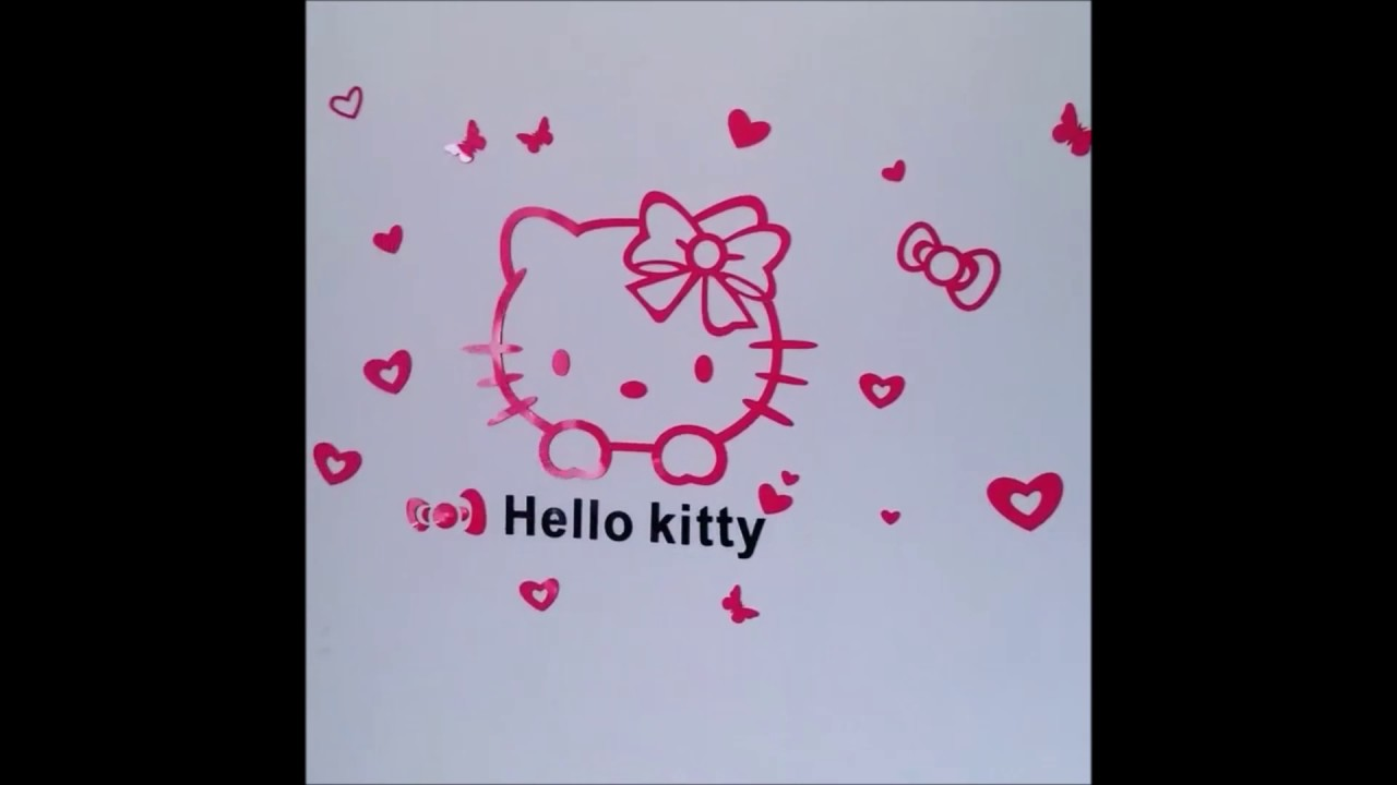 3d Hello Kitty Wall Stickers Youtube