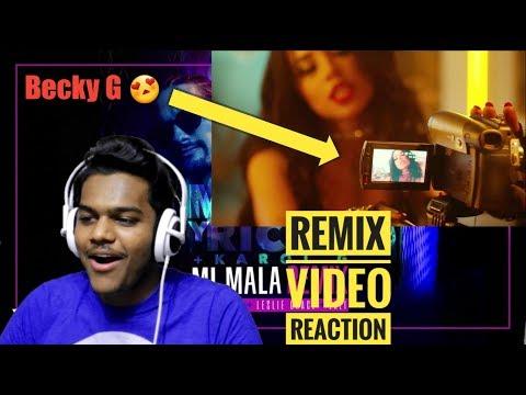 Mau y Ricky, Karol G - Mi Mala (Remix - Official Video) ft. Becky G, Leslie Grace, Lali | Reaction