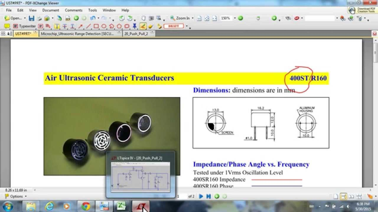 Driving An Ultrasound Transmitter With Pwm Youtube Ultrasonic Transducer Driver Circuit