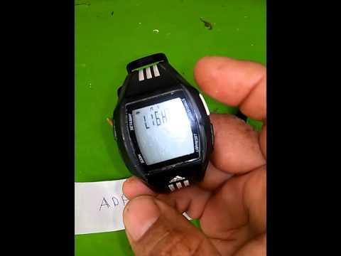 ada4d66cb038f Ajuste de hora a reloj Adidas ADP6046 - YouTube