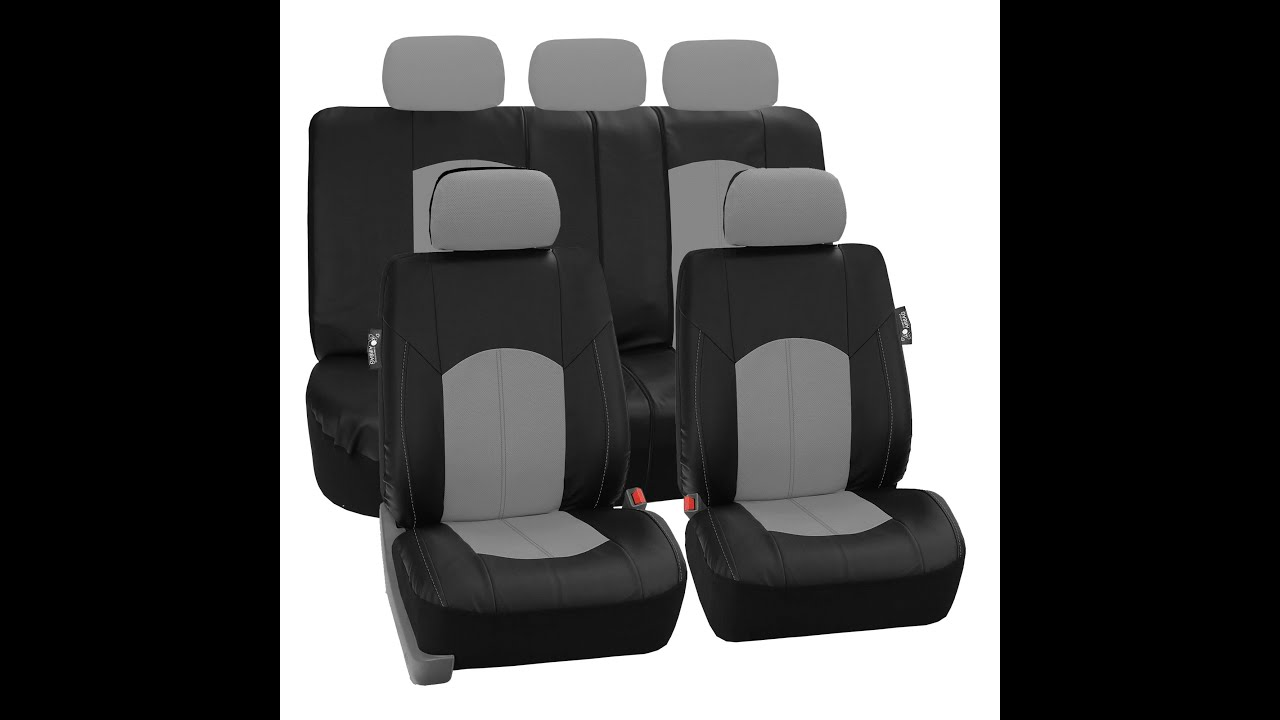 Perforated Leatherette Seat Covers FH Group Auto R