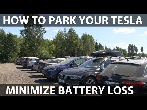 How to leave a Tesla parked for long time