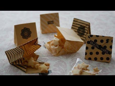 100均の折り紙1枚で作る小さな紙袋♡ | DIY Mini Paper Bag