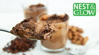 """Healthy Chocolate Mousse with Coconut Milk - """"Nutella"""" Hazelnut Pudding without Avocado"""