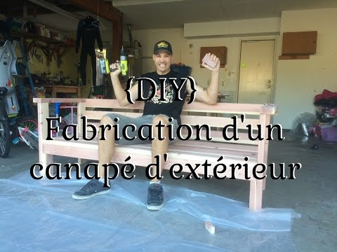 diy fabrication d 39 un canap d 39 ext rieur youtube. Black Bedroom Furniture Sets. Home Design Ideas
