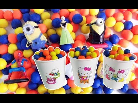 Play-Doh Dippin Dots Kinder Surprise Eggs Disney FROZEN Princess Minions Hello Kitty Cars