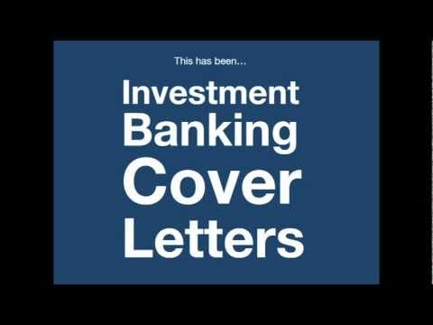 Investment Banking Cover Letter - How to create yours in 4 minutes