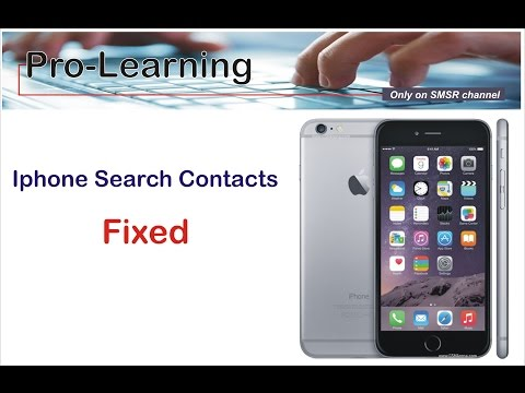 IPhone Search Contact Not Working - FIXED