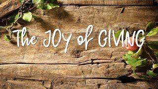 November 24, 2019: The Joy of Giving -Pastor Jedidiah Scharmer