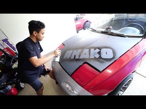 Spray Painting the Miata | RICER  ;)
