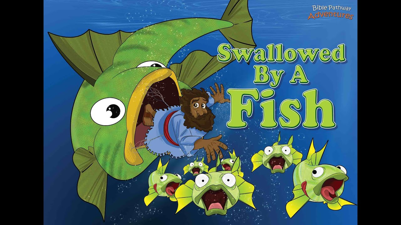 Jonah and the big fish swallowed by a fish youtube for Watch big fish