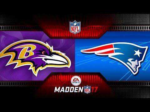 MONDAY NIGHT MADDEN NFL BALTIMORE RAVENS VS NEW ENGLAND PATRIOTS - Monday Night Football MADDEN 17