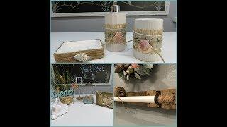 Tricia's Creations: SeaShell Vanity Set & More 2nd Bathroom Decor