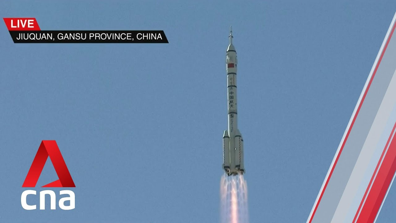 Download Blast off: China launches first crewed mission to Tiangong space station